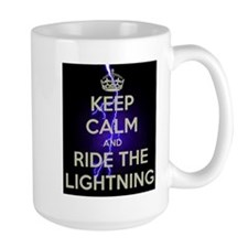keep calm and ride the lightning Mugs