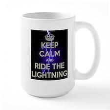 keep calm and ride the lightning Mugs