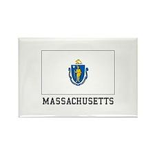 Massachusetts Flag Magnets