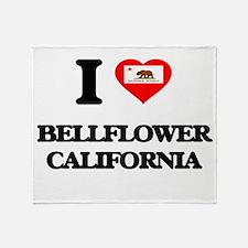 I love Bellflower California Throw Blanket