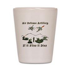 Air Defense Artillery If It Flies It Di Shot Glass