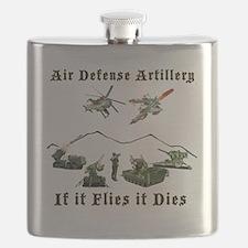 Air Defense Artillery If It Flies It Dies Flask