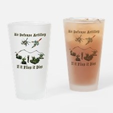 Air Defense Artillery If It Flies I Drinking Glass