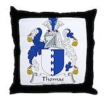 Thomas Family Crest Throw Pillow