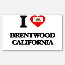 I love Brentwood California Decal