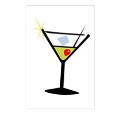 Martini Glass 1 Postcards (Package of 8)