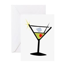 Martini Glass 1 Greeting Card