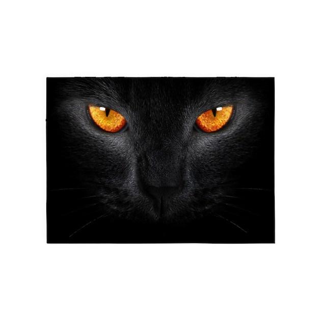 Black Cat 5'x7'Area Rug By WickedDesigns4