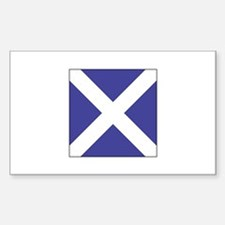 "ICS Flag Letter ""M"" Decal"