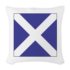 "ICS Flag Letter ""M"" Woven Throw Pillow"