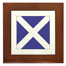 """ICS Flag Letter """"M"""" Framed Tile"""