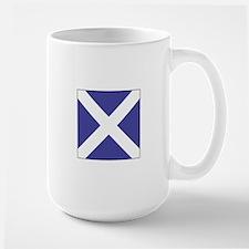 "ICS Flag Letter ""M"" Mugs"