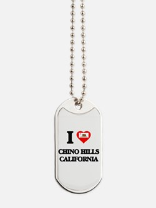 I love Chino Hills California Dog Tags