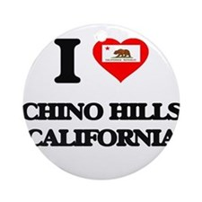 I love Chino Hills California Ornament (Round)