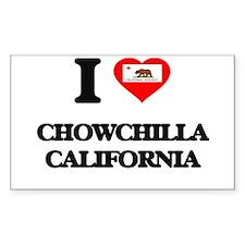 I love Chowchilla California Decal