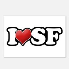 Classic I Heart SF Postcards (Package of 8)