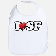 Classic I Heart SF Bib