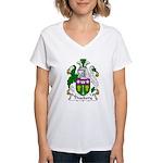 Thackery Family Crest Women's V-Neck T-Shirt