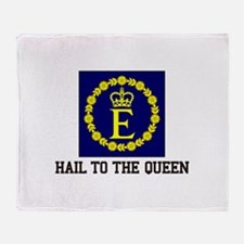 Hail to the Queen Throw Blanket