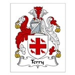 Terry Family Crest Small Poster