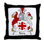 Terry Family Crest Throw Pillow