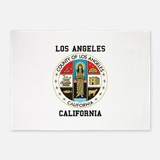 County of Los Angeles 5'x7'Area Rug