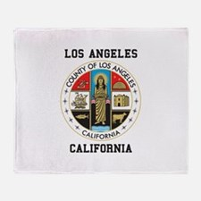 County of Los Angeles Throw Blanket