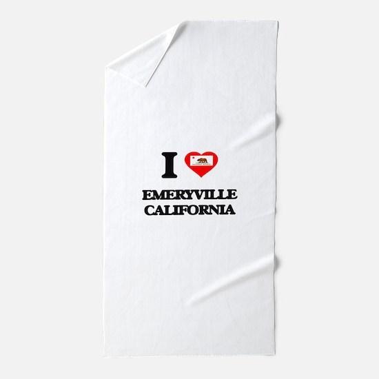 I love Emeryville California Beach Towel