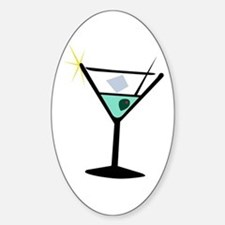 Martini Glass 3 Oval Decal