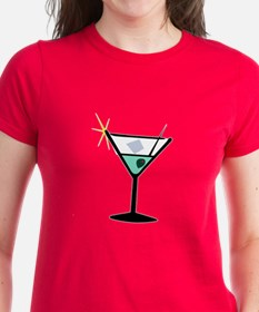 Martini Glass 3 Tee