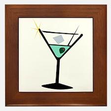 Martini Glass 3 Framed Tile