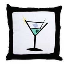 Martini Glass 3 Throw Pillow