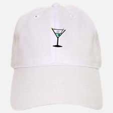 Martini Glass 3 Baseball Baseball Cap