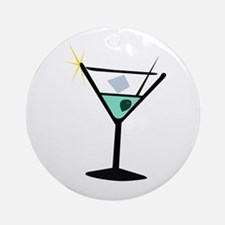 Martini Glass 3 Ornament (Round)