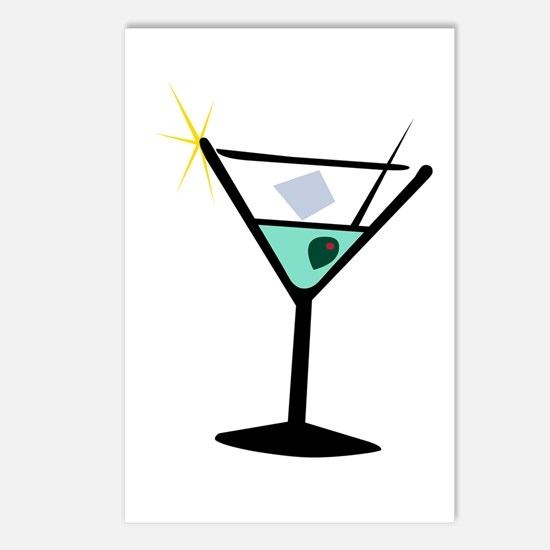 Martini Glass 3 Postcards (Package of 8)