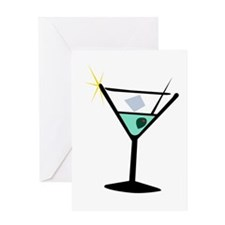 Martini Glass 3 Greeting Card