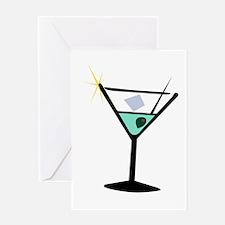 Martini Glass 3 Greeting Card