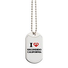 I love Escondido California Dog Tags