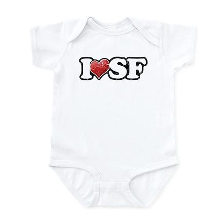 Vintage I Heart SF Infant Bodysuit