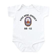 USS New Jersey BB 62 Infant Bodysuit