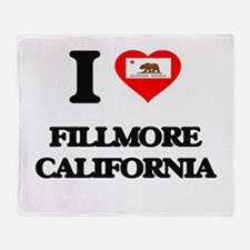 I love Fillmore California Throw Blanket
