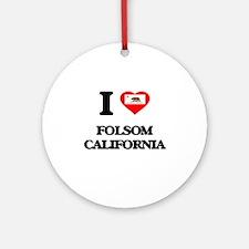 I love Folsom California Ornament (Round)