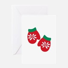 Holiday Mittens Greeting Cards