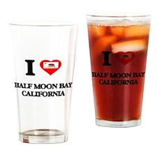 I love Half Moon Bay California Drinking Glass