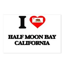 I love Half Moon Bay Cali Postcards (Package of 8)