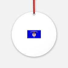 Merchant Marine Flag Ornament (Round)