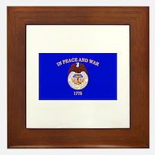 Merchant Marine Flag Framed Tile
