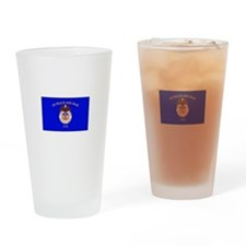 Merchant Marine Flag Drinking Glass