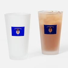 Merchant Marine Flag Drinking Glass