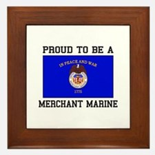 Proud to be a Merchant Marine Framed Tile